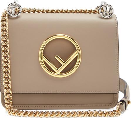 Fendi Kan I Logo small leather cross-body bag