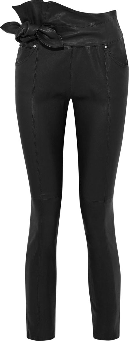 IRO Alpen knotted leather skinny pants
