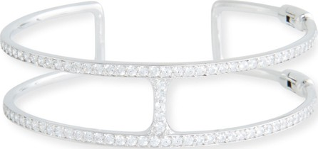 Fantasia by DeSerio Open Square Cubic Zirconia Cuff Bracelet