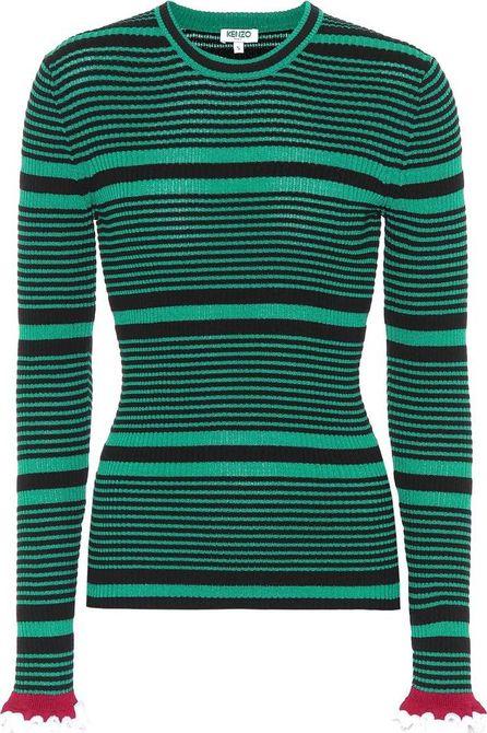 KENZO Striped cotton-blend sweater