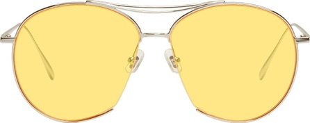 Gentle Monster Silver & Yellow Jumping Jack Aviator Sunglasses