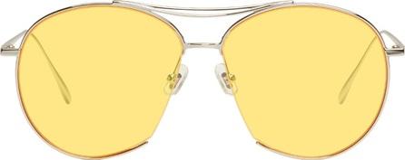 Gentle Monster Silver & Yellow Jumping Jack Aviator Sunglasses