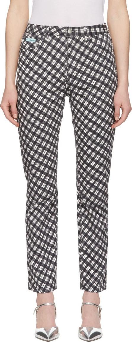 Alexachung Black & White Check Flared Jeans