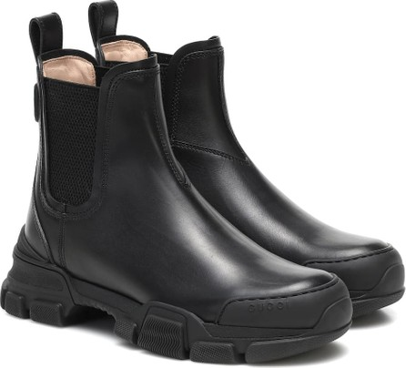 Gucci Ace leather ankle boots