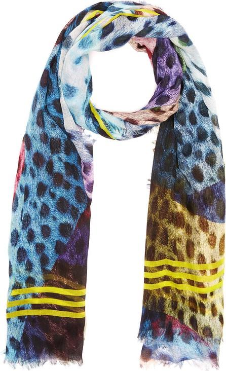 Franco Ferrari 'Danao' multi dot contrast stripe scarf