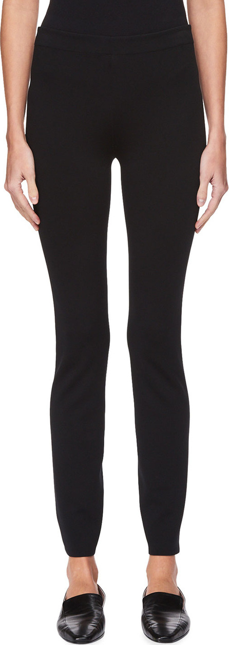 THE ROW Helda Skinny-Leg Back-Hem Zip Stretch-Knit Pants