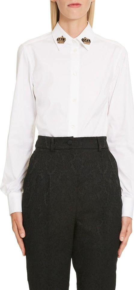 Dolce & Gabbana Crown Detail Stretch Poplin Shirt