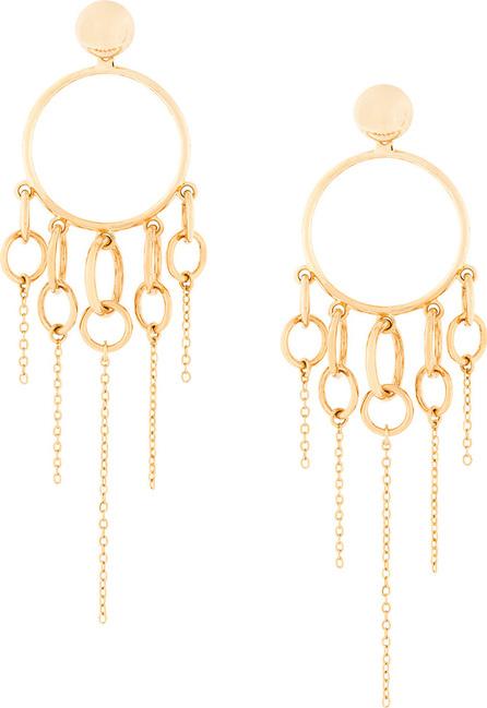 Eshvi Jumping charm hoop earrings