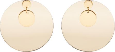 Jil Sander Large-disc earrings