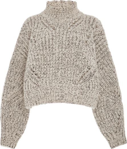 Isabel Marant Farren Open Mock Neck Wool-Blend Sweater