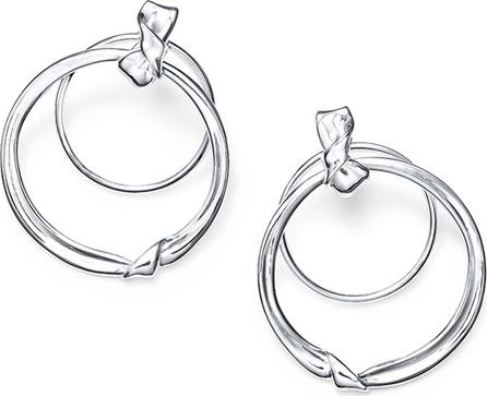 IPPOLITA Classico Silver Folded Door Knocker Earrings