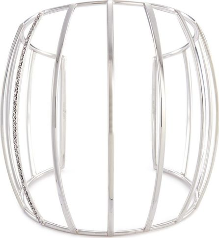 Dauphin Diamond 18k white gold caged cuff