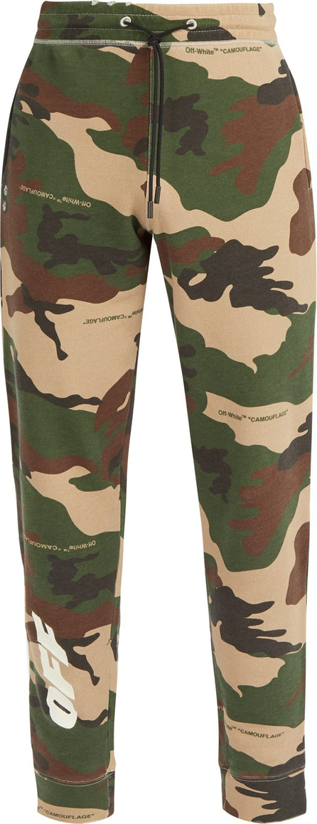 Off White Camouflage and logo-print track pants