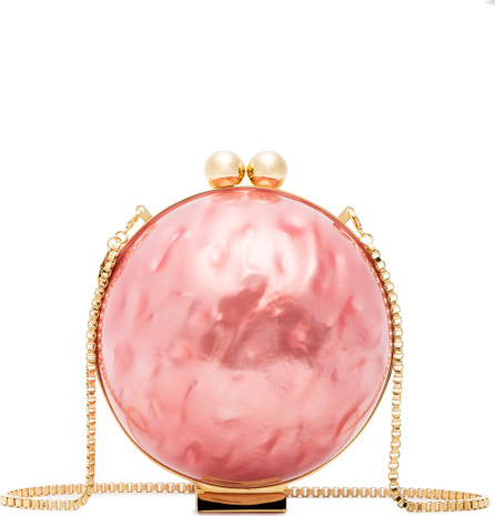 Marzook Pink Lucid Pearlescent Clutch