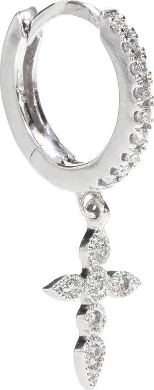 Stone Paris Tiny Hoop Céleste 18kt white gold and diamond earring