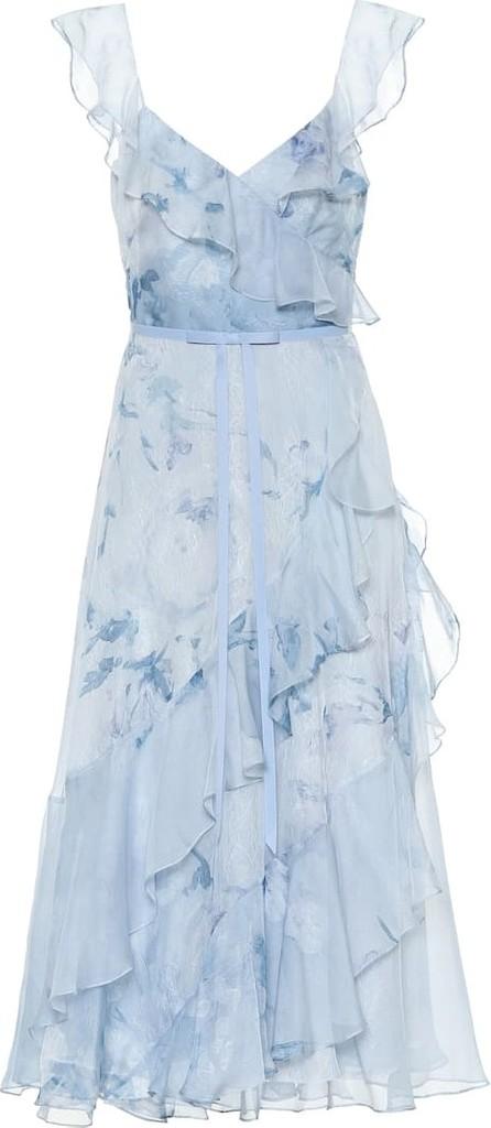 Marchesa Notte Floral chiffon dress