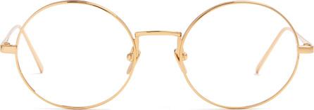 Linda Farrow Round-frame metal glasses