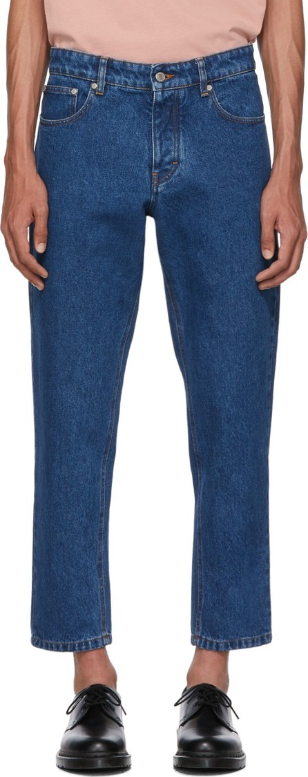AMI Blue Carrot-Fit Jeans