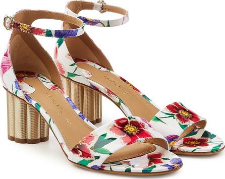 Salvatore Ferragamo Eraclea Printed Patent Leather Sandals