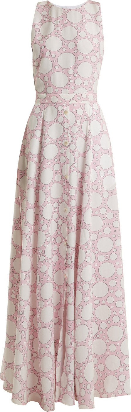 Rebecca de Ravenel Lola polka-dot print crepe de Chine dress