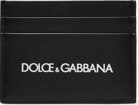 Dolce & Gabbana Logo-Print Leather Cardholder