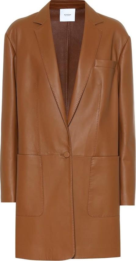 Agnona Leather coat