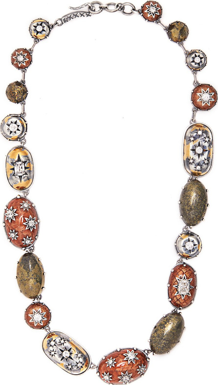 Bottega Veneta Stellular multi-stone sterling-silver necklace