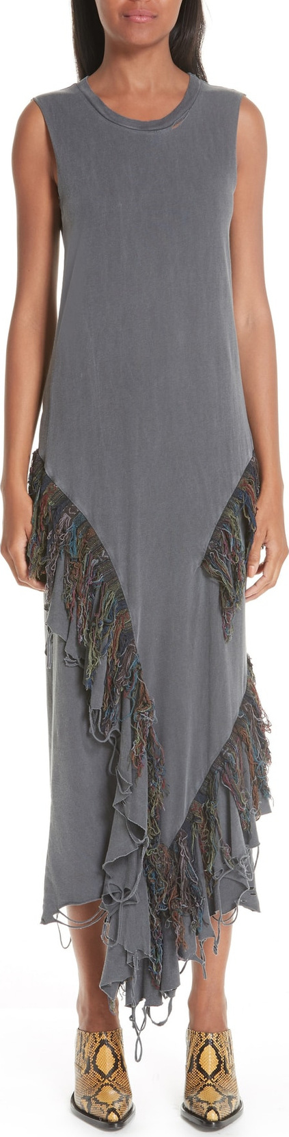 Alchemist Adriana Ikat Fringe Dress