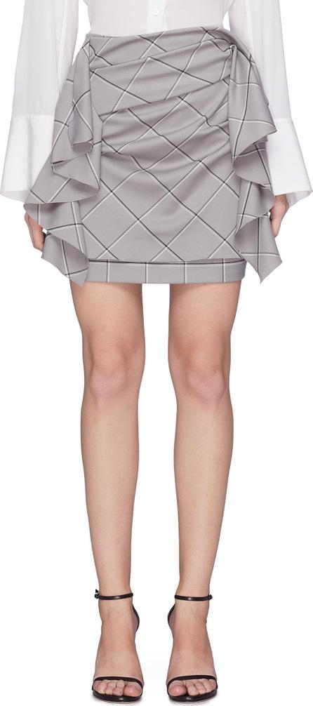 Carmen March Drape panel windowpane check skirt