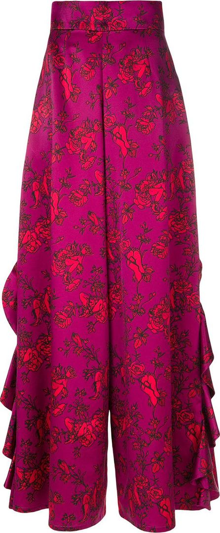 Alistair James Floral Love ruffle trousers