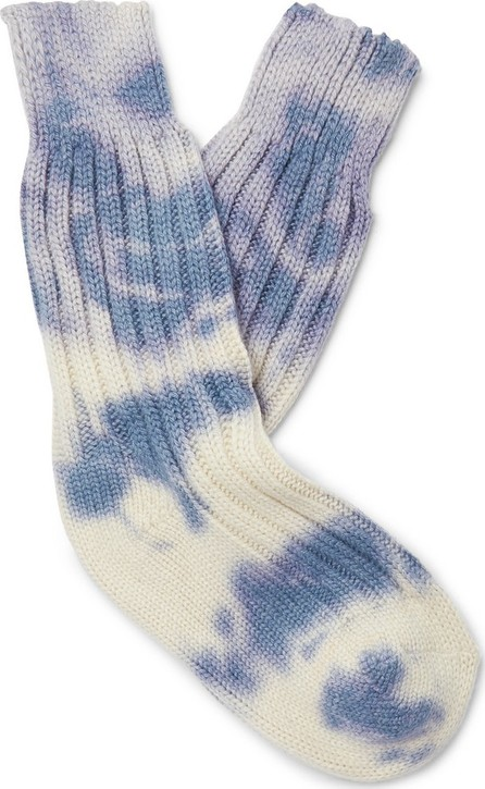The Elder Statesman Yosemite Tie-Dyed Cashmere Socks
