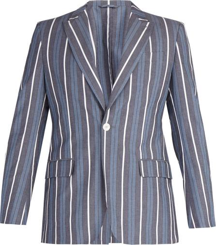 Connolly Striped cotton-blend blazer