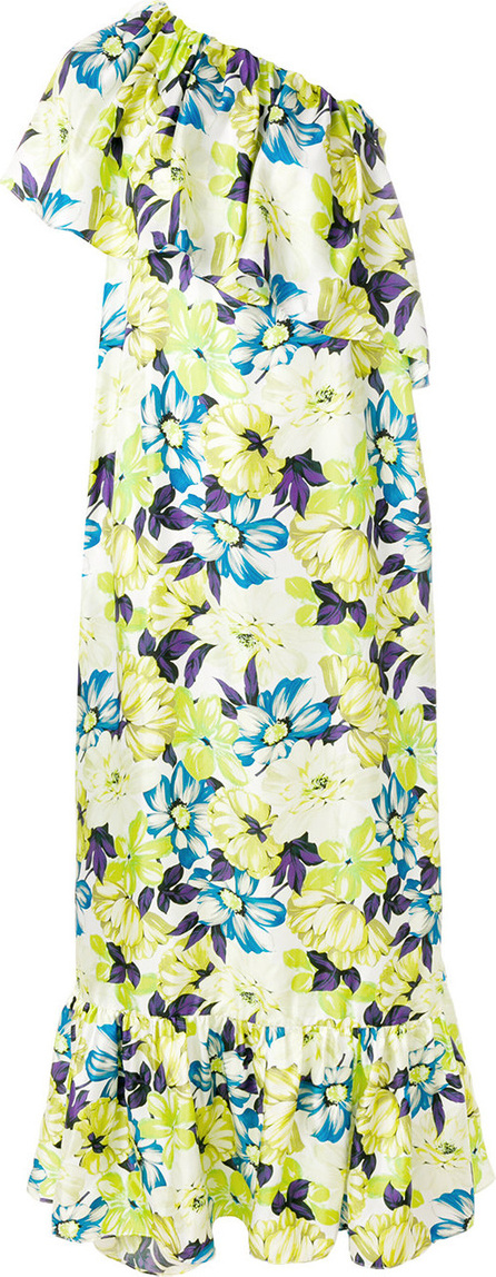 MSGM Floral-print one-shoulder dress