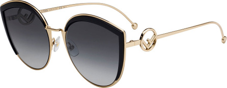 Fendi Round Metal Gradient Sunglasses