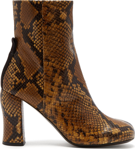 Joseph Groucho python-effect leather ankle boots