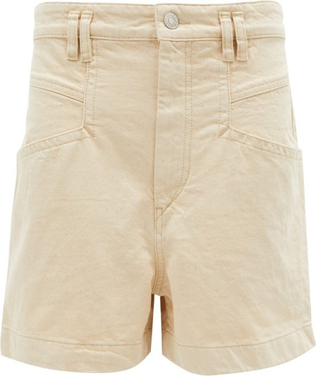 Isabel Marant Esquia high-rise cotton shorts