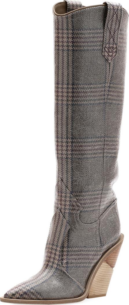 Fendi Tall Glen Plaid Western Boot