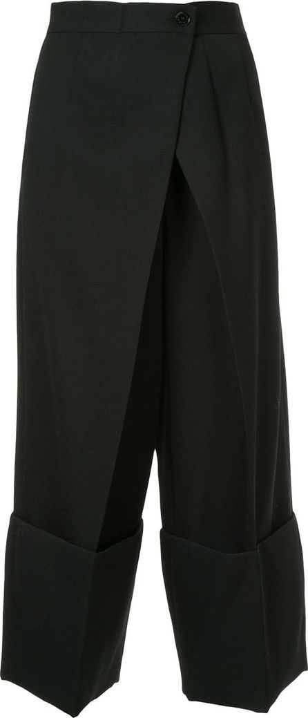 Astraet wide-leg cropped trousers