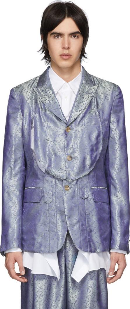 Comme Des Garçons Homme Plus Blue & Green A Pattern Blazer