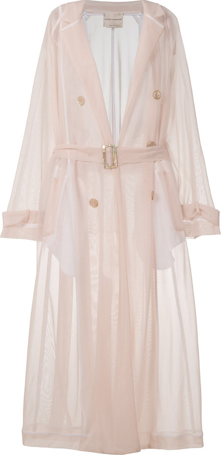Erika Cavallini Semi-sheer belted trench coat
