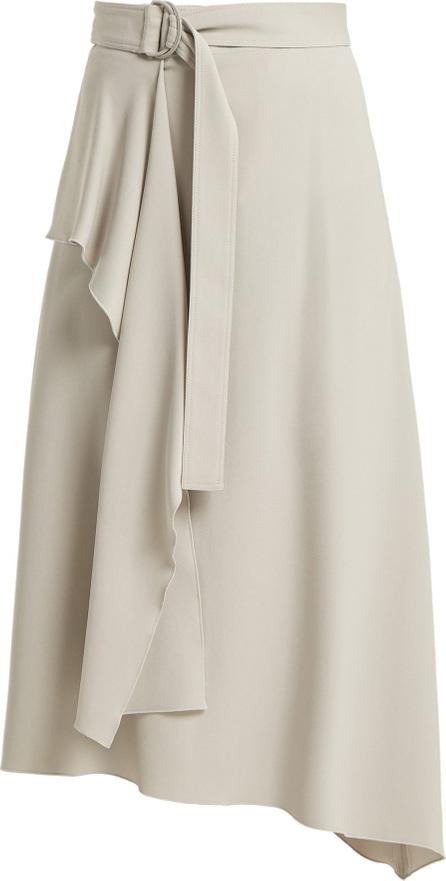 Joseph Sybil belted asymmetrical skirt