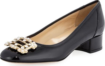 Sesto Meucci Heda Pearly Embellished Pump, Black