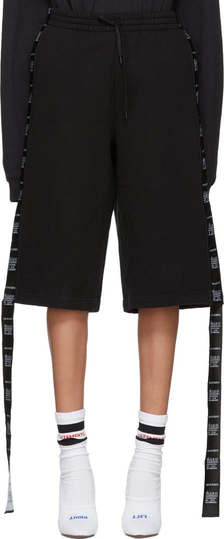 Vetements Black Tape Lounge Shorts