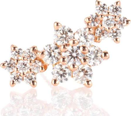 Maria Tash Diamond Flower Garland 18kt gold and diamond earring