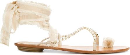 Ankle strap logo sandals