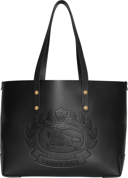 Burberry London England Embossed Crest Small Leather Tote