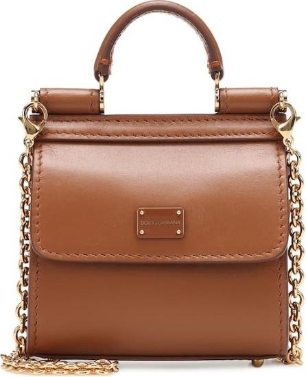 Dolce & Gabbana Sicily 58 Micro leather crossbody bag