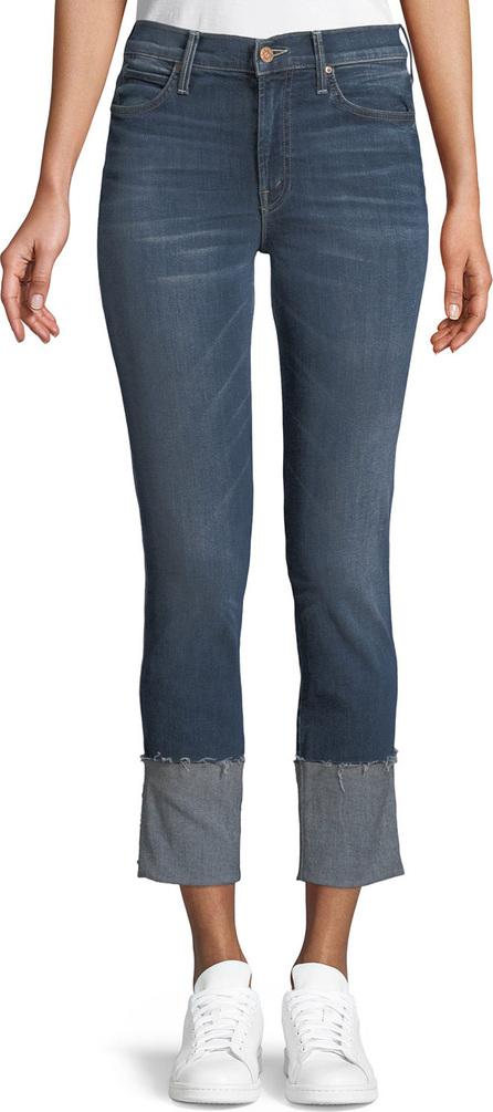 MOTHER Pony Boy Straight-Leg Ankle Fray Jeans
