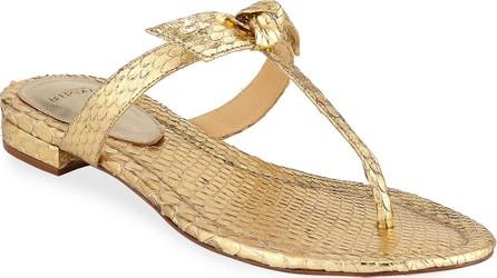Alexandre Birman Clarita Naked Metallic Python Sandals