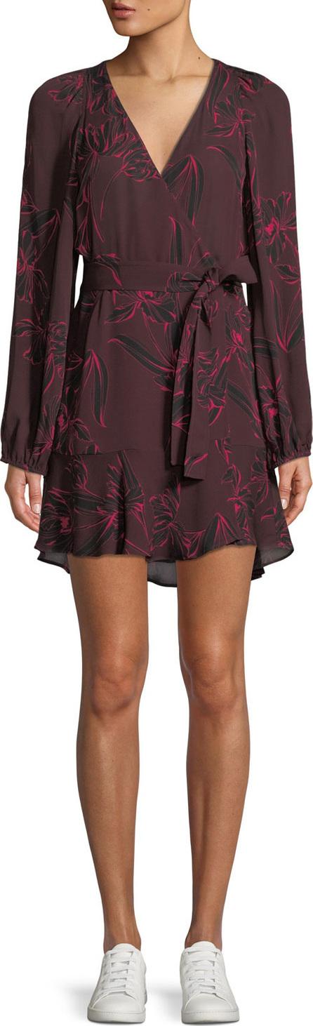 A.L.C. Carlo Floral-Print Mini Wrap Dress